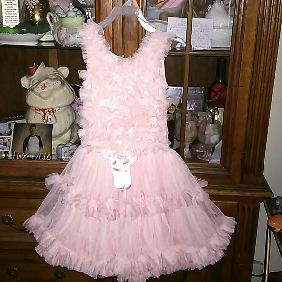 ff1a114733c9 Popatu Dresses | Peachy Pink Dance Dress Lacy Frilly Girls 56 L ...